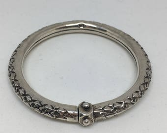 Richly decorated Bohemian 925 silver bracelet