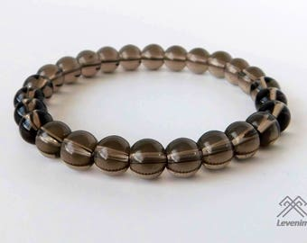 Smoky Quartz bracelet - Smoky Quartz - Quartz bracelet - Beaded bracelet - Smoky Quartz beads