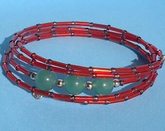 Avanturine bracelet, Gemstone bracelet, Spiritual Bracelet, Yoga, Meditation Bracelet, Chakra bracelet, Healing Bracelet, Women Bracelet,