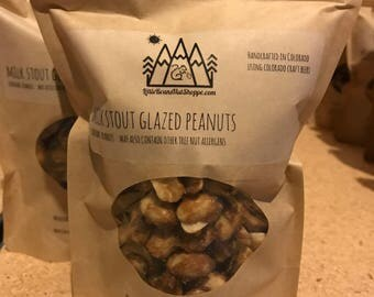 Milk Stout Peanuts/Glazed and Roasted/Beer/Nuts/Snacks/Beer lovers