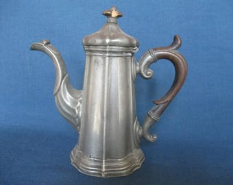 Antique pewter coffee pot. English pewter.James dixon and sons.Ornate english coffee pot.Elegant coffee pot.Quality antique. Ideal gift.