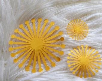 Paper Flower Center. Sun Paper Flower Centerpiece Set