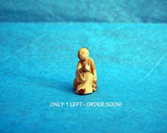 Chinese mudman figurine for your bonsai tree or ornamental plant.