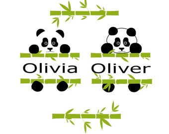 Panda SVG Panda svg files Animal SVG Svg file for Cricut Svg file for Silhouette Vector cut files Svg DXF Png Eps
