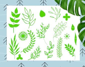 Leaf svg Leaves svg Branches Svg Ornament svg Flourish SVG Wedding svg Flower center svg files for Cricut Silhouette cut files svg dxf lfvs