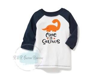 One a saurus, Dinosaur Birthday Shirt, First Birthday Boy Outfit, One Birthday Shirt, Cake Smash Outfit , Birthday boy outfit, 1st Birthday