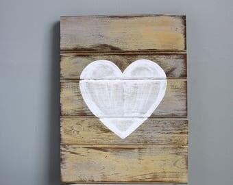 Heart Sign, Wood Heart, Heart Decor, Heart Art, Wooden Heart, Wood Heart Sign, Pallet Heart, Rustic Heart, Rustic Pallet Sign, Rustic Signs