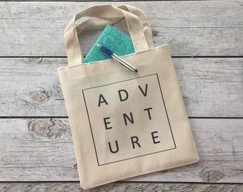 Adventure Tote, Gift For Her, Tote Bag, Canvas Tote Bag, Shopping Tote, Book Bag, Gift Tote, Market Bag, Lunch Tote, Christmas Gift