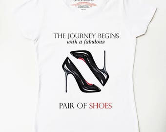 SHOES - White Cotton T-SHIRT by LovelyBones Clothing