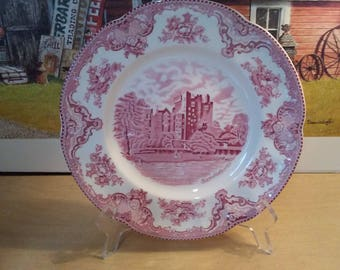 "10"" Johnson Bros Wedgewood old britian castles dinner plate mint"