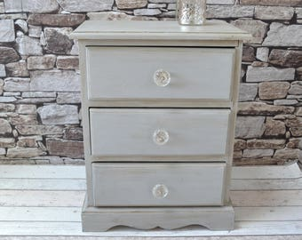 Pine Painted Bedside cabinet