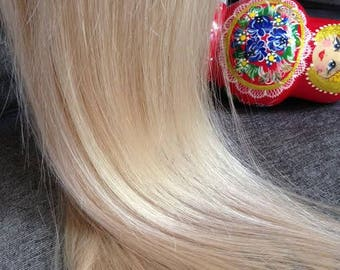 """Genuine Southern Russian Very Soft Luxe Hair Loose 24""""/155g Golden Light Ashy Blonde/Swedish Blonde"""