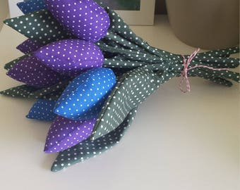 Fabric tulips bouquet <3