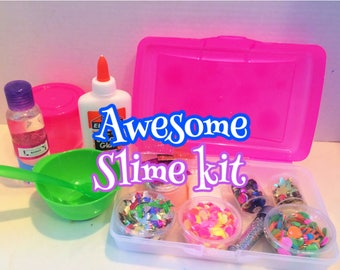 Slime making kit with so many extras!!