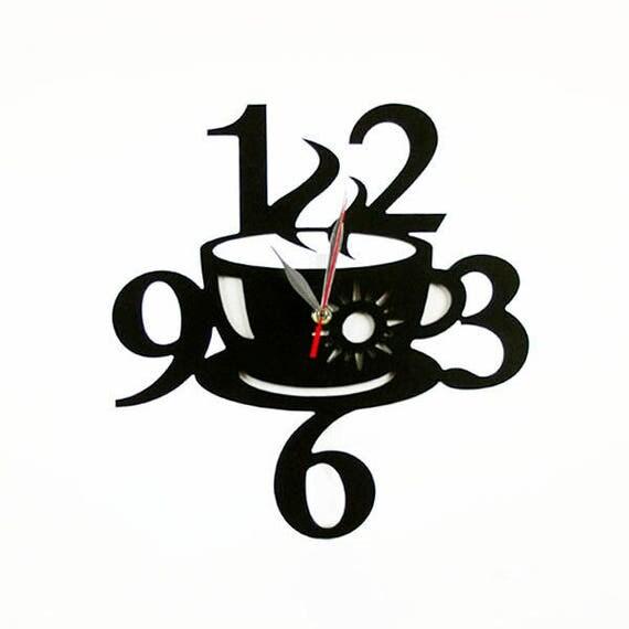Fashion Art wall clock Modern wall clock Coffee cup wall