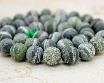 Matte Zebra Jasper Round Gemstone Beads (6mm 8mm 10mm)