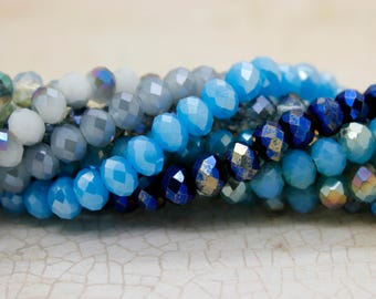 Crystal Beads, Faceted Rondelle Chinese Crystal Beads Full Strand (5mm x 6mm)