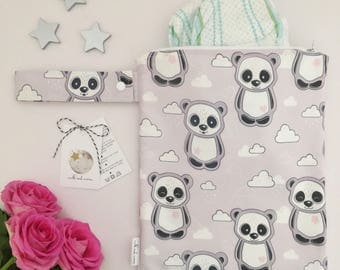 Panda and Cloud Nappy Changing Bag