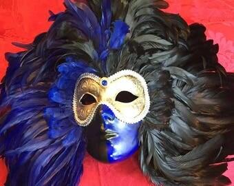 Si Lucia Ladies Italian Full-Face Carnevale Mask