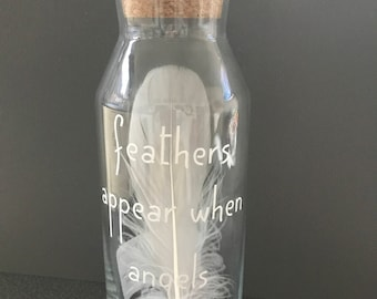 Feather In A Bottle Memorial Gift Remembrance Gift