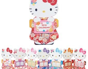 Hello Kitty Japanese style calendar card SANRIO from Japan kawaii