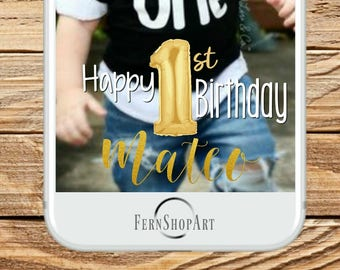 First Birthday Snapchat Filter, First Birthday Filter,Birthday Snapchat Geofilter,Birthday Filter,BirthdayGeofilter,First Birthday Geofilter
