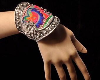 Tribal Jewelry,  Tribal Bracelets, Ethnic Tribal Inspired, Indian Tribal Boho, Tibet Silver Jewelry, Boho Jewelry, Indian Tribal jewelry