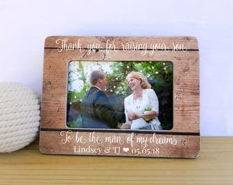 Mother of the Groom Gift Thank you for raising the man of my dreams. Parents of the groom gift. Thank you Gift Grooms parents