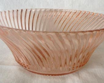 """Federal Glass 5"""" Pink Diana Cereal Bowl"""