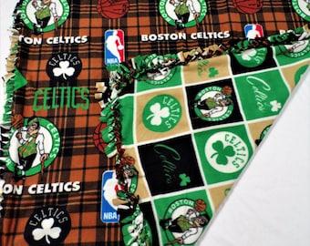 Boston Celtics - Boston Teams - Celtics Blanket - Boston Celtics Bedding - Celtics Decor - Basketball Decor - Boys Bedroom Decor - Boy Gift
