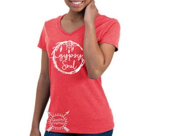 Gypsy Soul, T-shirt, Women's shirt, Ladies Shirt, Gypsy