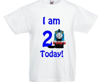 Thomas the Tank Engine Birthday TShirt ANY AGE
