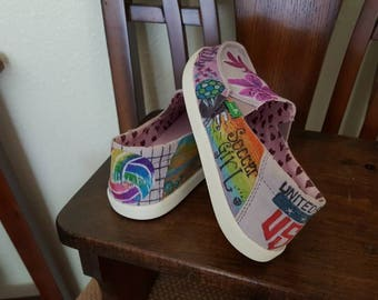 Customized Girls Shoes, Sanuk brand