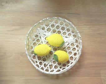 Dinette, toys, kids lemon crochet vegetables