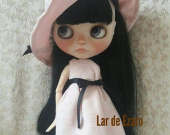 Dress and hat for blythe dolls
