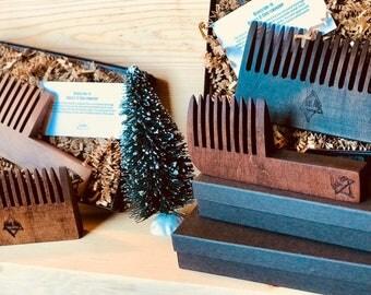 Beard Comb, Gifts for Men, Mens Gift, Beard Products, Wood Beard Comb, Beard Gifts, Beard Gifts, Beard Brush, Beard, Local Pine Woodworking