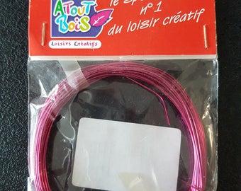 Hot pink metallic threads