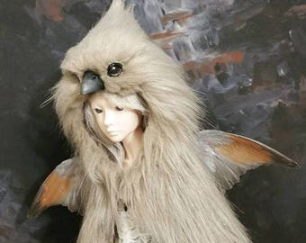 Faux bird headdress for MSD BJD