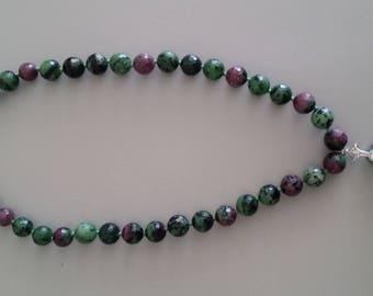 Ruby in Zoisite Necklace with Pendant