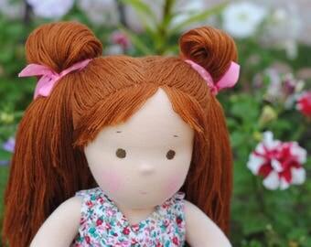 14 inch (36 cm) Waldorf doll. Steiner doll-cloth dolls handcrafted dolls-stuffed dolls work-Waldorf Toys