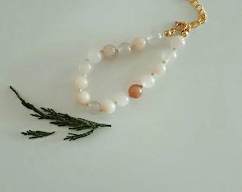 Peach Aventurine Summer Bracelet