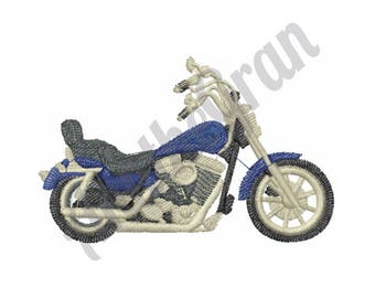 Motorcycle  - Machine Embroidery Design, Chopper Design