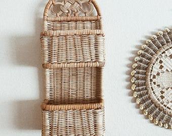 Vintage Wicker Wall Basket