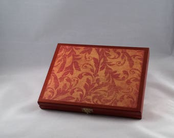 Altered Cigar Box, Keepsake Box, Jewelry Box, Gift, Trinket