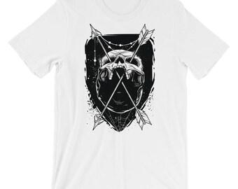 Skull and Arrows Short-Sleeve Unisex T-Shirt