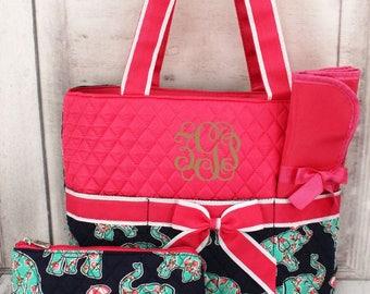 Elephant Diaper Bag set