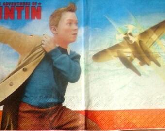 Tintin napkin