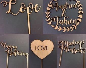 Cake decoration / Wedding Cake Topper / birthday / event
