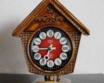 Vintage Vityaz Soviet mechanicla alarm clock ussr