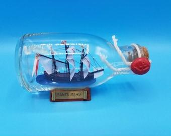 Santa Maria Ship in a Bottle.